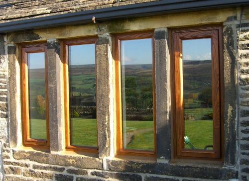 Close up of Mullion Windows