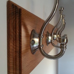 Coat hooks on Oak back plate
