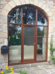 Hardwood Arched Barn Door