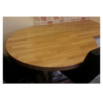 Oak Circular Breakfast Bar