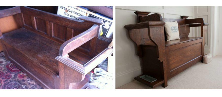 Furniture Restoration: Restored Pew