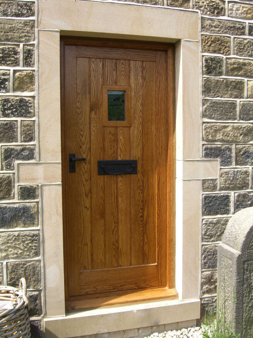 Solid wood doors made to measure near ilkley for Solid wood front doors