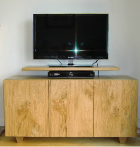 AV & Media Cabinet in Pippy Oak wooden TV Unit