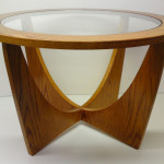 Wood Tables - Retro Table with Glass Top