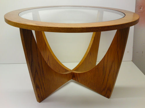 ... Wood Tables   Retro Table With Glass Top
