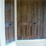 wooden shutters for windows - distressed Oak shutters