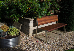 Iroko Garden Seat