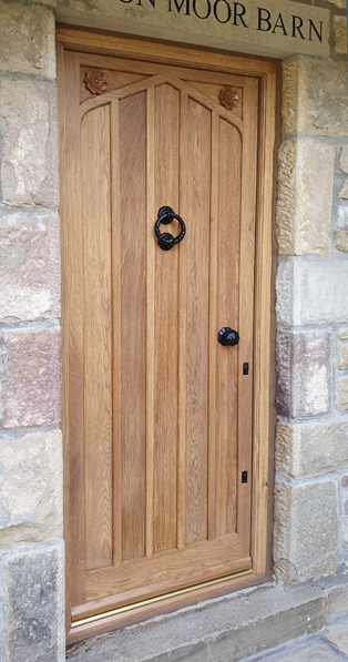 Carved Yorkshire Rose External Door