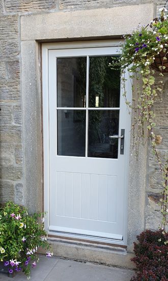 Hardwood Painted External Door & Frame